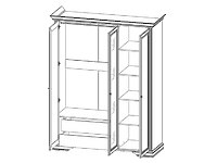 Шкаф 3D(2S) сосна серебряная ВАЙТ