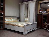 Кровать с основанием гибким  LOZ160х200 сосна золотая Вайт