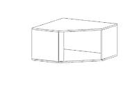 Шкаф верхний GRAPHIC NAD1D/SZFN Белый блеск