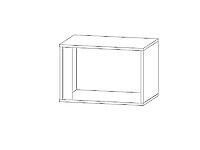 Шкаф настенный GRAPHIC SFW1DP Белый блеск