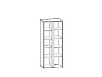 Шкаф GRAPHIC SZF 2D Белый блеск