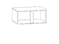Шкаф настенный GRAPHIC SFW2D/86/38 Серый вольфрам