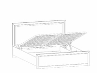 Кровать с подъёмным механизмом LOZ160х200_2 ясень снежный КОЕН