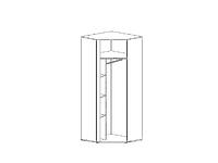 Шкаф GRAPHIC SZFN1D Белый блеск
