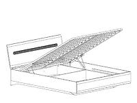 Кровать с подъемным механизмом AZTECA LOZ160x200 дуб санремо