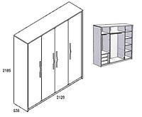 Шкаф четырёхдверный ONIX B1-SZF4D